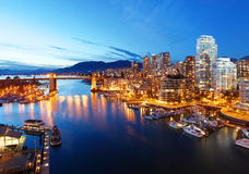 Vancouver in Canada. The city of Vancouver in British Columbia, Canada Royalty Free Stock Images