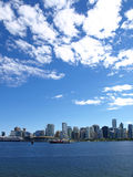 Vancouver Canada cityscape. With towers, sky and boats Royalty Free Stock Photo