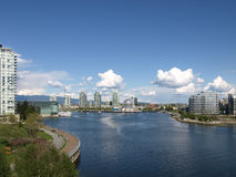 Vancouver Canada cityscape. With towers, sky and boats Royalty Free Stock Image