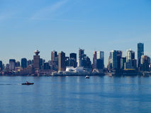 Vancouver Canada cityscape. From North Vancouver Stock Photography