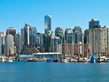 Vancouver Canada cityscape. With towers and boats Stock Images