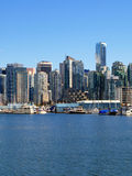 Vancouver Canada cityscape. With towers and boats Stock Photography