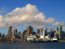 Vancouver Canada cityscape. In downtown Royalty Free Stock Images