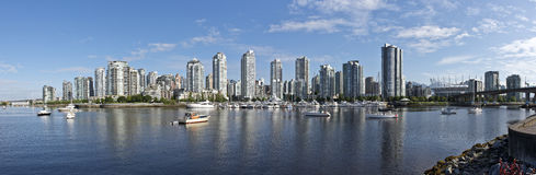 Vancouver Canada. From false creek Stock Image