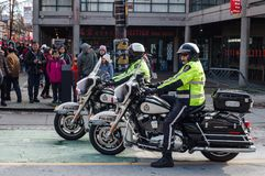 Free VANCOUVER, CANADA - February 18, 2018: Vancouver Police Department Motocycle Officers At Chinese New Year Parade. Royalty Free Stock Photo - 110895345