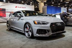 Vancouver, Canada - March 2018 : Audi RS5. Taken at 2018 Vancouver Auto Show Royalty Free Stock Photos