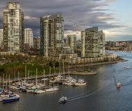 Vancouver, Canada - March 23, 2016. Beautiful view in downtown of Vancouver, Canada, towers and buildings Royalty Free Stock Image