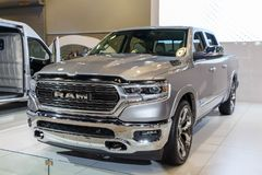 Vancouver, Canada - March 2018 : Dodge Ram 1500 Hemi. Taken at 2018 Vancouver Auto Show Royalty Free Stock Photos