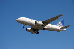 United Airlines aircraft  Stock Photography