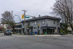Vancouver Canada - March 31, 2017, View at 16th Avenue and Heather Street Stock Image