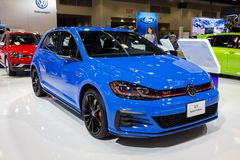 Vancouver, Canada - March 2019 : VW Golf GTI, taken at 2019 Vancouver Auto Show
