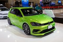 Vancouver, Canada - March 2019 : VW Golf, taken at 2019 Vancouver Auto Show