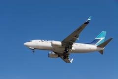 WestJet aircraft Stock Images