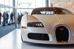 Vancouver, Canada - mars 2018 : Roadster de Bugatti Veyron, pris au salon de l'Auto 2018 d'International de Vancouver photos libres de droits