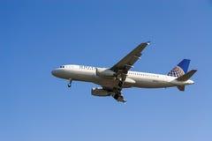 Aerei di United Airlines   fotografia stock