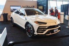 Vancouver, Canada - marzo 2018: Urus di Lamborghini fotografie stock libere da diritti
