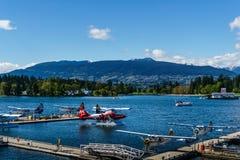 Vancouver, Canada - Mei 8 2017: Van de de Havenvlucht van Vancouver de Terminal van het het Centrumwatervliegtuig op 8 Mei, 2017 royalty-vrije stock afbeeldingen
