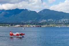 Vancouver, Canada - Mei 8 2017: Van de de Havenvlucht van Vancouver de Terminal van het het Centrumwatervliegtuig op 8 Mei, 2017 royalty-vrije stock foto's