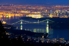 Vancouver, Canada at night Stock Photo