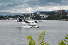 VANCOUVER, CANADA/NORTH AMERICA - AUGUST 12 :Seaplane taxiing in Royalty Free Stock Photo