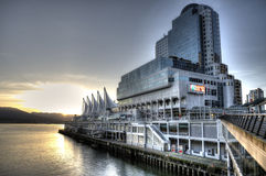 Vancouver, Canada, North America. Bay of Vancouver city at sunrise stock image