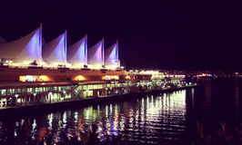 Vancouver Canada Place. At night, British Columbia, Canada Stock Photo