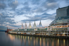 Vancouver canada place night view Stock Photography