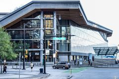 Entrance to the West Building of The Vancouver Convention Centre royalty free stock photography