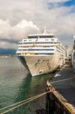 Vancouver, Canada - September 12, 2018: Seven Seas Mariner cruise ship, in port. Seven Seas Mariner, Regent Seven Seas Cruises ship. Docked in Vancouver royalty free stock image