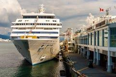 Vancouver, Canada - September 12, 2018: Seven Seas Mariner cruise ship, in port. Seven Seas Mariner, Regent Seven Seas Cruises ship. Docked in Vancouver royalty free stock images
