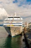 Vancouver, Canada - September 12, 2018: Seven Seas Mariner cruise ship, in port. Seven Seas Mariner, Regent Seven Seas Cruises ship. Docked in Vancouver stock photo