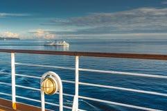 Vancouver, Canada - 12 settembre 2018: BC traghetto osservato dalla piattaforma della nave da crociera fotografia stock libera da diritti