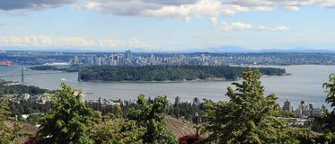 Vancouver, Canada: Stanley Park e centro urbano Immagini Stock Libere da Diritti