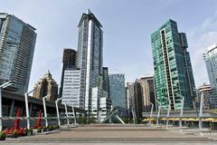 Vancouver Canada. Water front and Olympic torch Royalty Free Stock Image