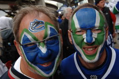 Vancouver Canucks Fan Stock Photo