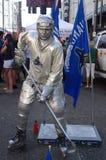 Vancouver Canucks fan. Vancouver Canucks hockey fan model Stock Photo