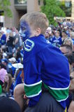 Vancouver Canucks fan. Young Vancouver Canucks hockey fan Royalty Free Stock Images