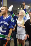 Vancouver Canucks fan. Young Vancouver Canucks hockey fan Stock Image