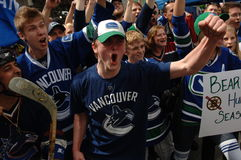 Vancouver Canucks Fans Stock Photography