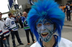 Vancouver Canucks Fans Royalty Free Stock Image