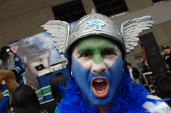 Vancouver Canucks Fans Royalty Free Stock Photo