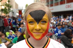 Vancouver Canucks Fans Stock Photos