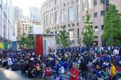 Vancouver Canucks hockey fans Stock Photos