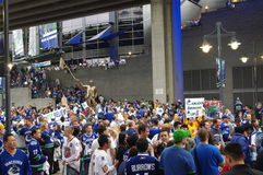 Vancouver Canucks hockey fans Royalty Free Stock Images