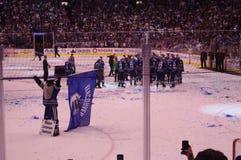 Vancouver Canucks 2011 Westelijke Conferentiekampioenen Stock Fotografie