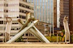 Vancouver chaudron de 2010 Jeux Olympiques d'hiver Photos stock