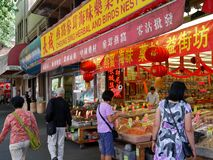 Vancouver Chinese grocery shop Royalty Free Stock Photos