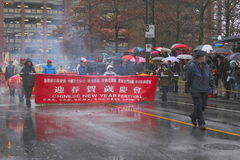 Vancouver Chinese Parade. Vancouver Chinese community selebrate The Year of the Dragon with a colorful parade Stock Images