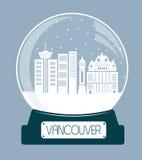 Vancouver Christmas glass ball.  Stock Image