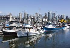 Vancouver City Boats Stock Photo